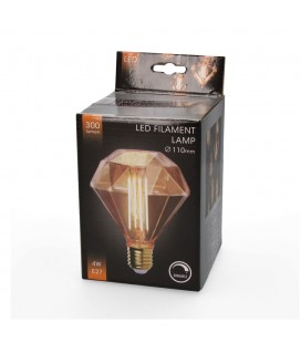 BOMB. DEC. LED FLAT DIAMOND EDISON 4W RE