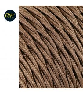 m. cable trenat marro 2x0'75mm