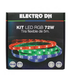 Kit tira de LED RGB flexible 5m. IP65.